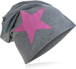 Berretto lungo in jersey, da adulto, unisex, tinta unita, con stella