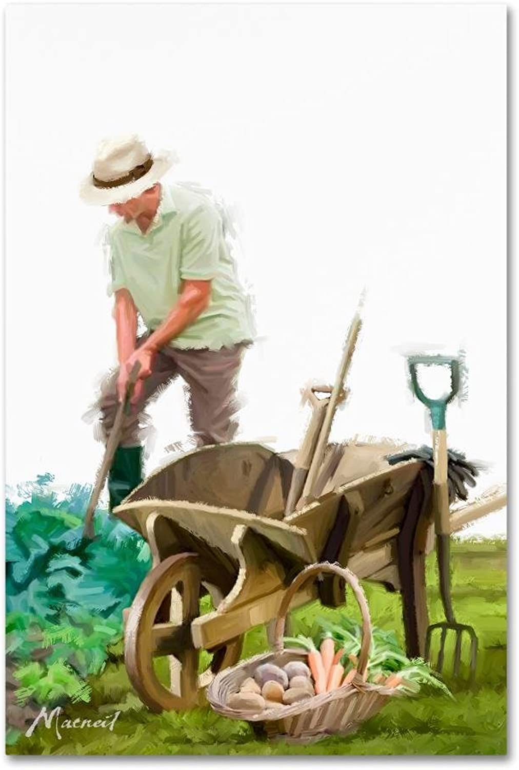 Trademark Fine Art ALI8566C1219GG Gardener by The Macneil Studio 12x19 Canvas Wall Art
