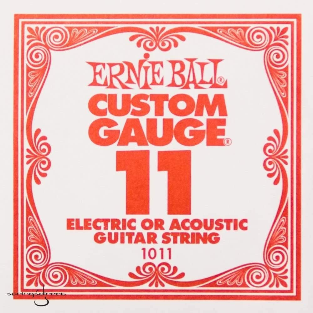 Ernie Ball Plain Super sale period limited Steel Albuquerque Mall .011 Strings Single