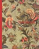 Notebook: Ornament tile, symmetrical leaf shape, corner motif, ox head, wall tile tile sculpture ceramic earthenware glaze