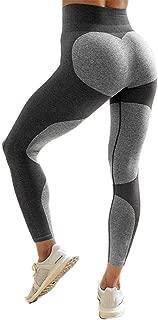 STARBILD Women's Heart Shape Patchwork Yoga Pants Ankle-Length Workout Leggings Sport Fitness Gym Tights