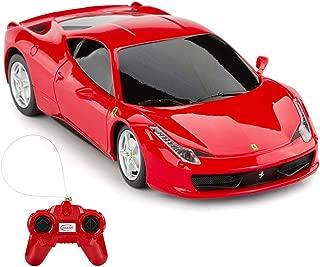RASTAR Ferrari Remote Control Car, 1/24 Scale Ferrari 458 Italia Model Car, Red Ferrari Toy Car