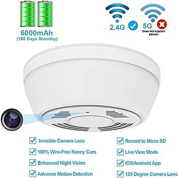 Amazon Com Hidden Camera Wifi Smoke Detector Fuvision Nanny