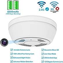 Hidden Camera WiFi Smoke Detector,FUVISION Nanny Cameras and Hidden Camera with 180 Days..