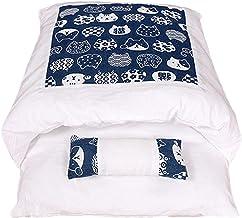 Eastdall Ninho De Estimação Removível,Maca de gato japonês saco de dormir de gato fechado removível e lavável colcha de ga...