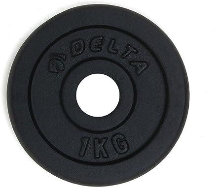 Delta Elite Dura-Strong Döküm Plaka Çi̇Ftli̇, Siyah, 1 kg