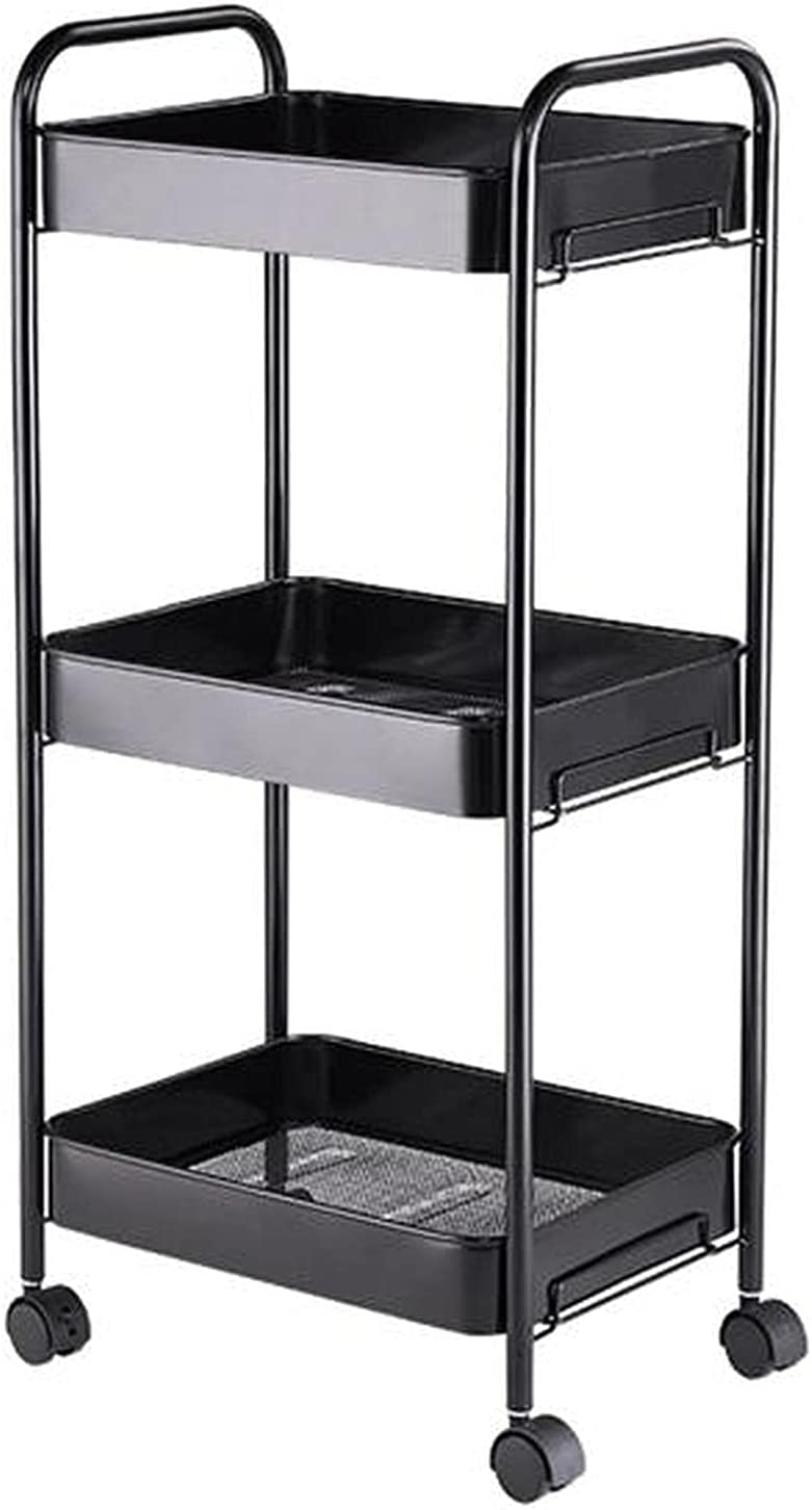 Ranking TOP10 HyiFMY Kitchen Shelves, 3-Layer Rack-Mob Popular standard Rolling Storage Metal