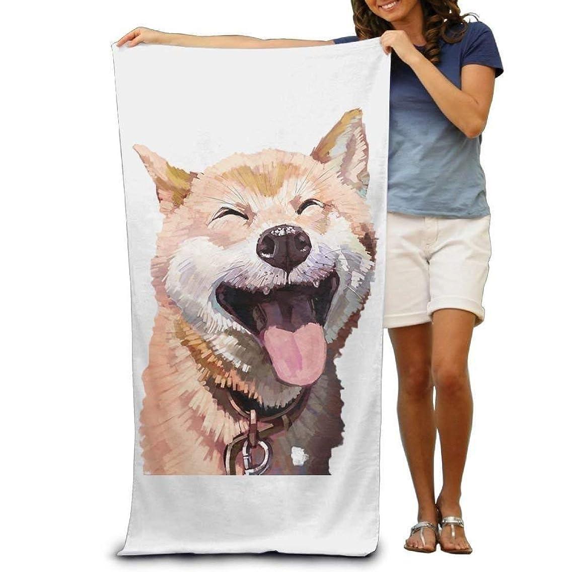 TOGEFRIEND Bath Towel Cute Shiba Creative Patterned Soft Beach Towel 31
