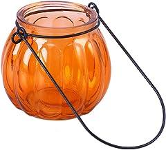 LEDMOMO Suportes de vela para pendurar, castiçais de vidro de abóbora para velas Tealight Decoração de casa para decoração...