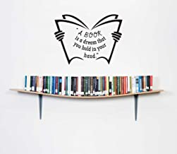 Rawpockets ' Book is a Dream Quote' Wall Sticker (PVC Vinyl, 1 cm x 70 cm x 80 cm)