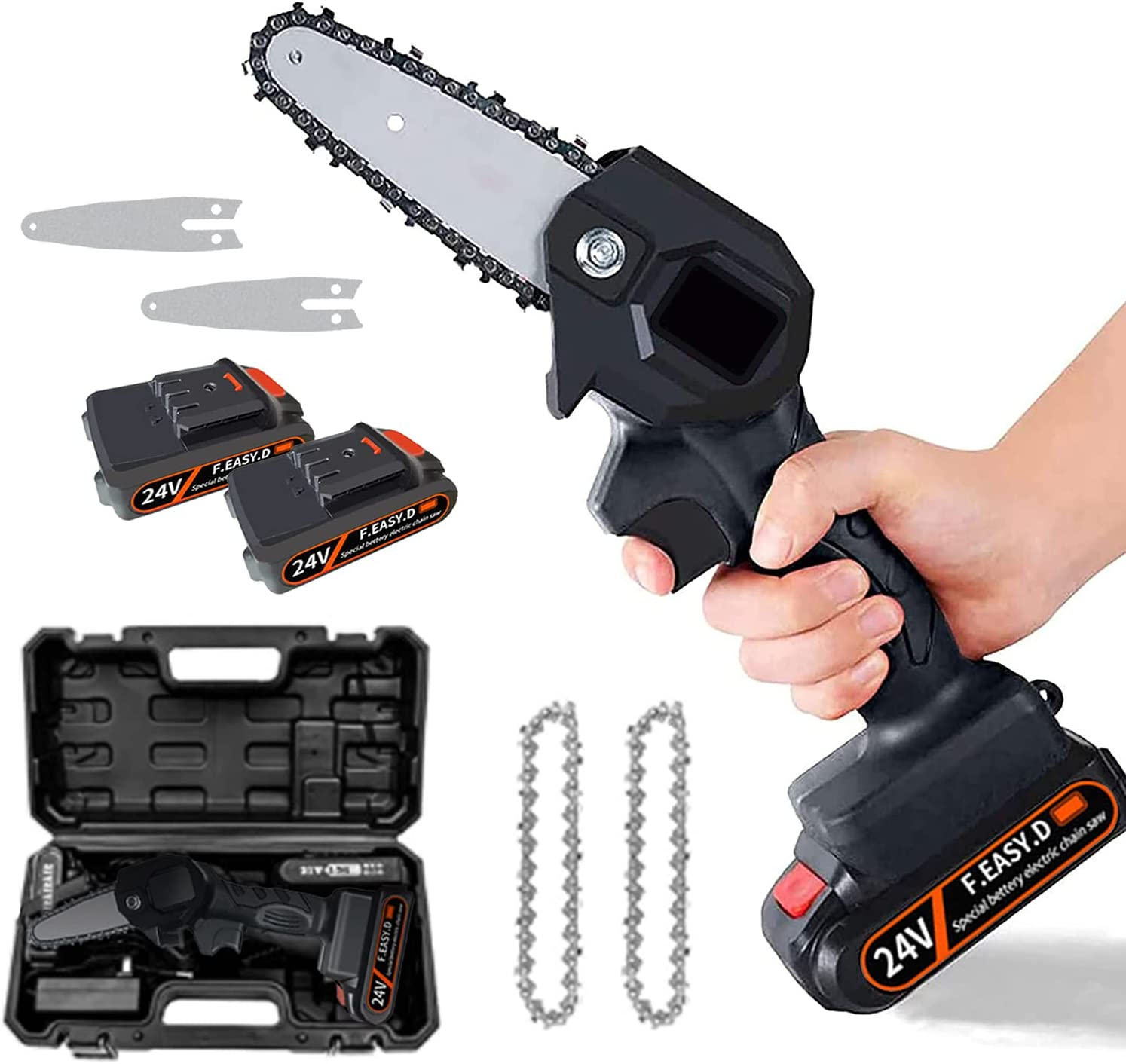 Department store Mini Chainsaw Cordless 1.3kg Ultra-Light Rechargeable NEW before selling