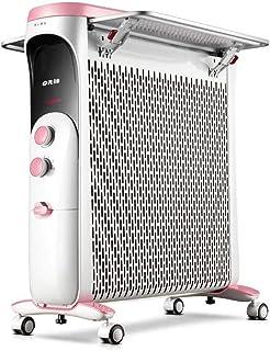 ZXF@ Radiador Lleno De Aceite 2200w Panel De Convección Calentador 3 Configuraciones De Energía Termostato, Corte De Seguridad Térmica Y Protección contra Altas Temperaturas