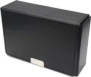 合皮製スリムカードケース ブラック