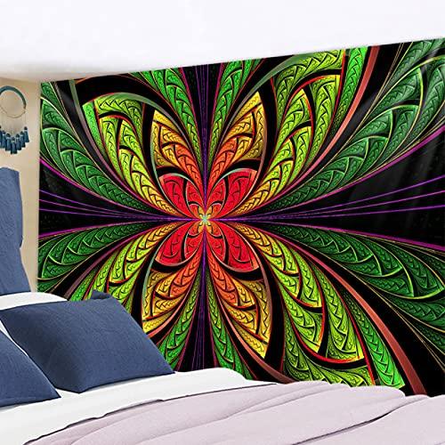 RichAmazon Tapiz de mandala para colgar en la pared india 3D jade decoración del hogar sala de estar fondo alfombra de pared tela hippie manta gt322-6,230x150 cm