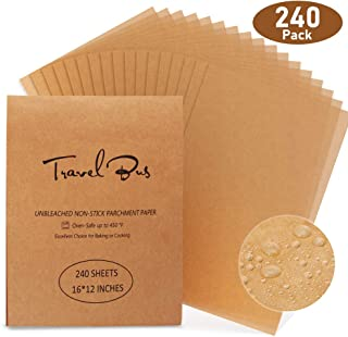 Parchment Paper Sheets 240 Count Precut Non-Stick Unbleached 12x16 Inches Parchment Paper for Baking Cooking Steaming Grilling Bread Cookie Grilling Air Fryer