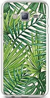 PHEZEN for Galaxy J3 Case, Galaxy J3V Case,Galaxy Amp/Express Prime Case,Galaxy Sky/Sol Case,Clear Soft Flexible TPU Silicone Case Transparent TPU Bumper Case for Galaxy J3 2016, Banana leaf