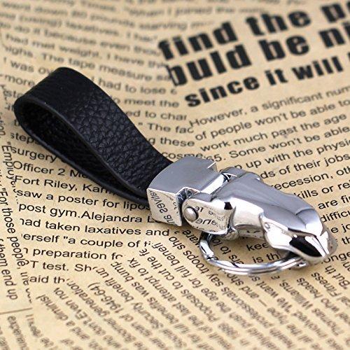 Nabati Jaguar panthère Léopard Cuir véritable à clip ceinture Porte-clés Keychain Porte-clés Bague KeyFob Porte-clés 84028