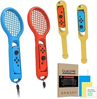 マリオテニス エース Nintendo Switch マリオテニス エース(2) Nintendo Switch ガラスフィルム ギフト 太鼓 switch専用 ジョイコンハンドル Joy-Conハンドル グリップ 2点セット Nintendo Switch ガラスフィルム ギフト