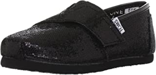 Toms Youth Classic Glitter Shoes Black, Size 8 M US Toddler, EU 24