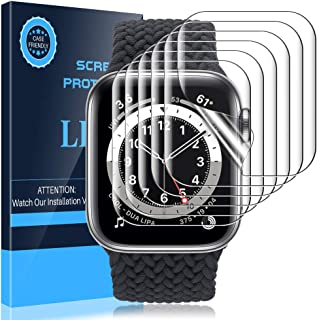 LK Compatible con Apple Watch Series 6 SE Series 5 Series 4 44mm con Apple Watch Series 3 Series 2 Serie 1 42mm Protector ...