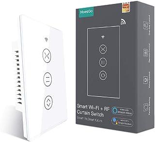 MoesGo WiFi RF433 Interruttore Intelligente Tapparelle, Interruttore pannello touch per tenda,tapparelle e persiane avvolg...