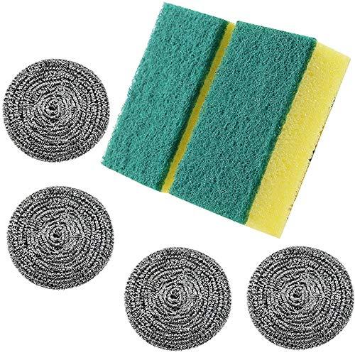 Lezed Esponja de Limpieza de Vajillas Estropajos de acero inoxidable para Elimina toda la suciedad, Esponjas de Limpieza Multiusos para Baños y Cocinas