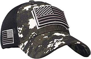 Anna-Kaci Camouflage Trucker Special Tactical Operator Forces USA Flag Patch Baseball Cap