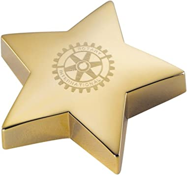 Personalized Gold Star Paperweight Engraved Free Paper Weight - Ships from USA