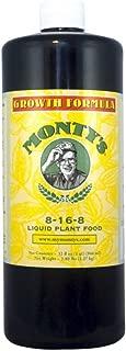 Monty's 816321 Growth Formula 8-16-8 Liquid Plant Food--32 oz. Concentrate