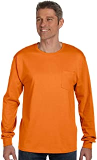 Hanes 6.1 oz. Tagless ComfortSoft Long-Sleeve Pocket T-Shirt
