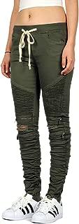 Women's Skinny Shirring Biker Jogger Pants