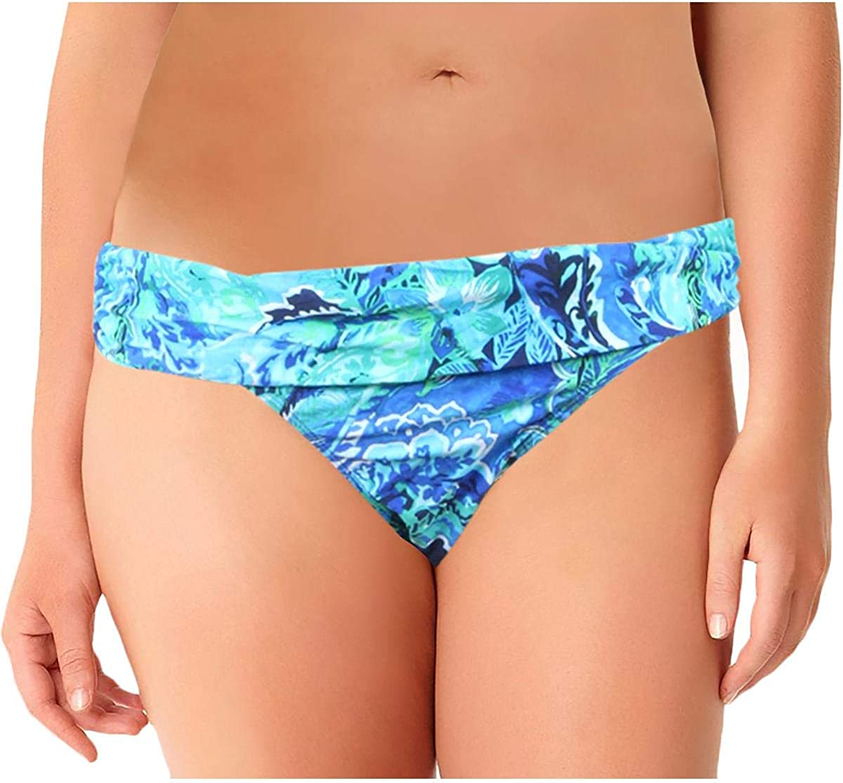 LAUREN RALPH Outstanding Womens Hipster shipfree Fold Bikini Over Swim Bottom