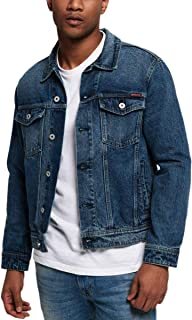 Superdry Men's Highwayman Trucker Jacket, Blue