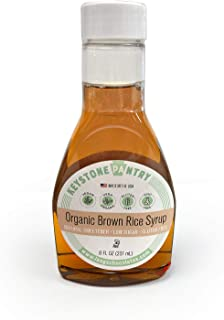 Keystone Pantry Organic Brown Rice Syrup 8 fl oz Bottle (11.75oz by weight) Kosher-Parve Perfect Replacement for HFCS