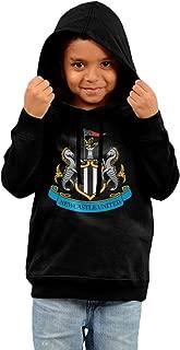 Newcastle United Football Club College Hoodie Sweatshirt Little Girls Black