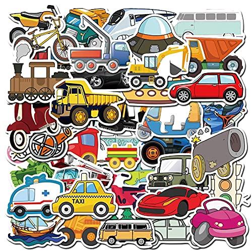 PMSMT 40 Piezas Pegatinas Coche camión Burbuja niña niño Pegatinas bebé Dibujos Animados pegajoso para niños Transporte Divertido educación Pegatina