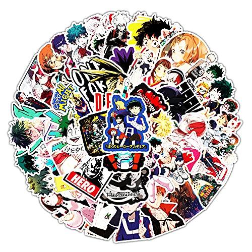 KPSHY Anime Hero Academy Pegatinas de Graffiti de Dibujos Animados Pegatinas Decorativas de Bricolaje de Anime adecuadas para automóviles, Scooters, Tazas de Agua, computadoras portátiles, Maletas