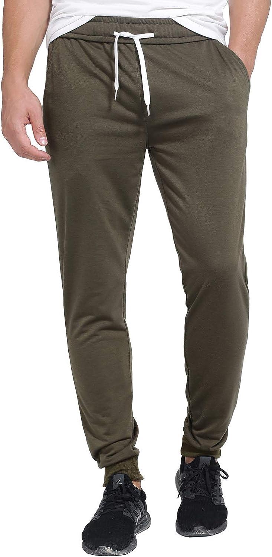 Sweatpants for Men Basic Drawstring Elastic Waist Joggers Pants with Pockets