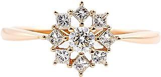 カナディアンダイヤモンド リング 計0.34ctUP [K18RG] 専用ケース付 12号