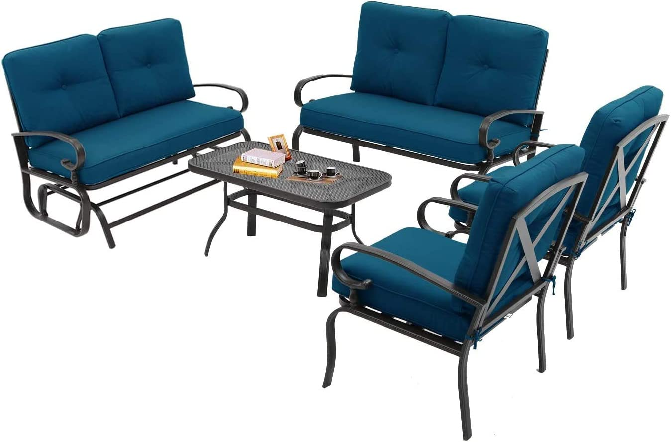 Betterland Outdoor Furniture Max 63% OFF 5Pcs 6 Conversation Patio S Seats Max 77% OFF