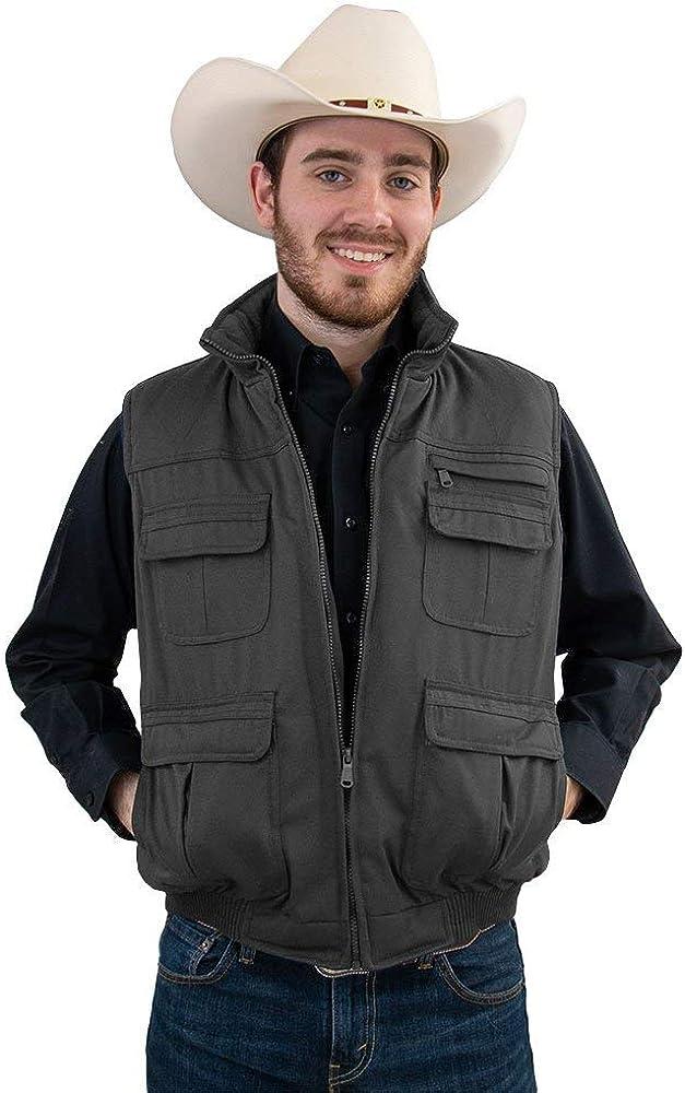 Tempco Men's Fisherman Vest - TM209-CHARCOAL