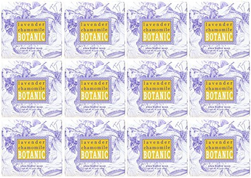 Greenwich Bay Trading Company 1.9oz Soap Bulk Packs of 12 (Lavender Chamomile)