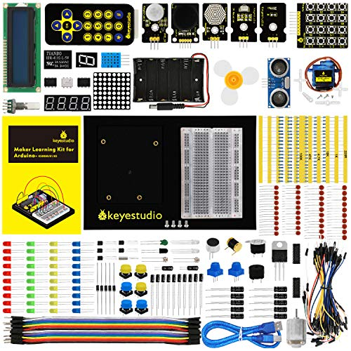KEYESTUDIO Starter Kit for Arduino UNO Projects, Interesting Lessons DIY Electronic Science Kits for Stem Education