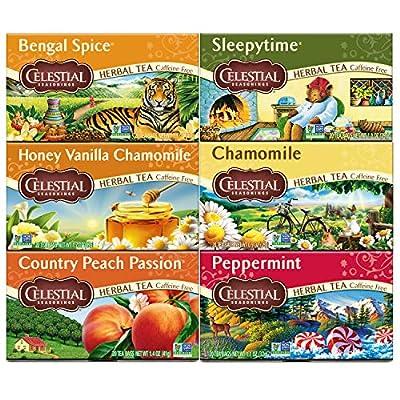 Celestial Seasonings Herbal Tea Variety Pack, 20 Count (Pack of 6) by AmazonUs/HAICJ