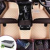 HzvtCtarmsu Alfombrillas de coche personalizadas para alfombras de piel Nissan Murano 2005-2010 delanteras y traseras Alfombrilla de piel para cualquier tiempo, beige, KIA Optima 2011