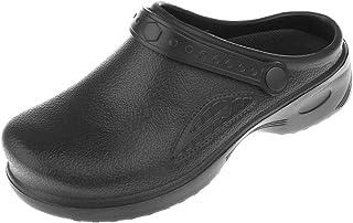 sharprepublic Slip Resistant Chef Clogs for Kitchen - Non Slip Work Shoes for Men Women - White & Black to Choose