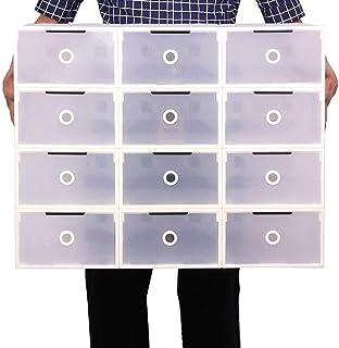 Mutiwill 10 Pièces Boîte À Chaussures Boîte À Chaussures Empilable Boîte De Rangement Pliable pour Chaussures Boîte À Chau...