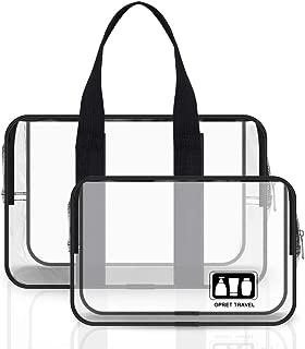 Bolsas de Aseo Transparente, Opret 2 Pcs Neceser de Viaje