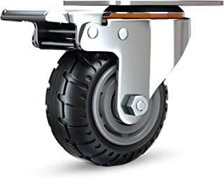 Zwenkwielen, Zwenkwielen met zwenkwielen, Industrieel Premium Heavy Duty, Zwenkwielen Wielen van polyurethaanschuim Geluid...