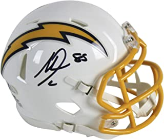 Chargers Antonio Gates Autographed Signed 2017 Color Rush Speed Mini Helmet Bas Witnessed